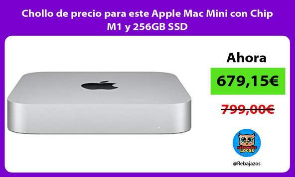 Chollo de precio para este Apple Mac Mini con Chip M1 y 256GB SSD