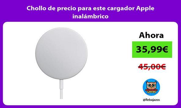 Chollo de precio para este cargador Apple inalámbrico