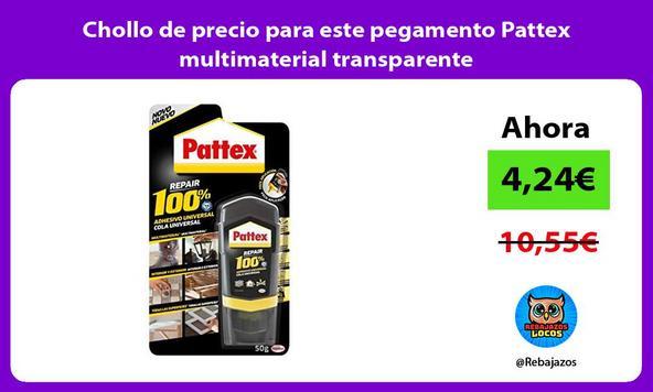 Chollo de precio para este pegamento Pattex multimaterial transparente