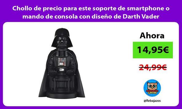 Chollo de precio para este soporte de smartphone o mando de consola con diseño de Darth Vader