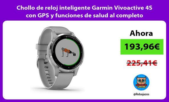 Chollo de reloj inteligente Garmin Vivoactive 4S con GPS y funciones de salud al completo