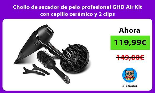 Chollo de secador de pelo profesional GHD Air Kit con cepillo cerámico y 2 clips