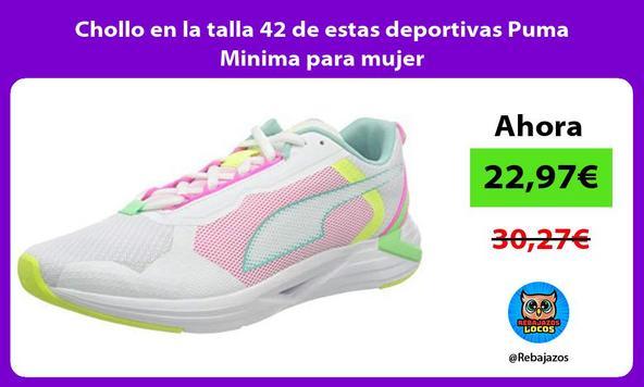 Chollo en la talla 42 de estas deportivas Puma Minima para mujer