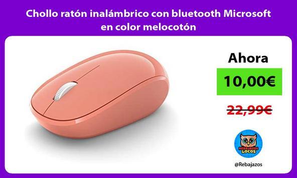 Chollo ratón inalámbrico con bluetooth Microsoft en color melocotón