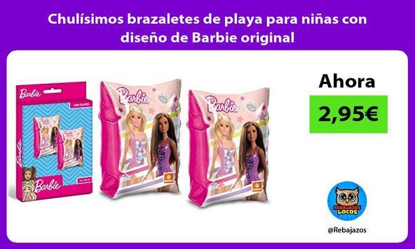 Chulísimos brazaletes de playa para niñas con diseño de Barbie original