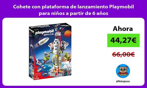 Cohete con plataforma de lanzamiento Playmobil para niños a partir de 6 años