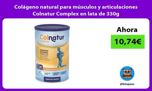 Colágeno natural para músculos y articulaciones Colnatur Complex en lata de 330g