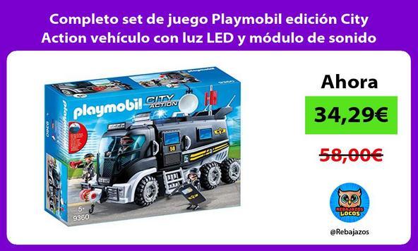 Completo set de juego Playmobil edición City Action vehículo con luz LED y módulo de sonido