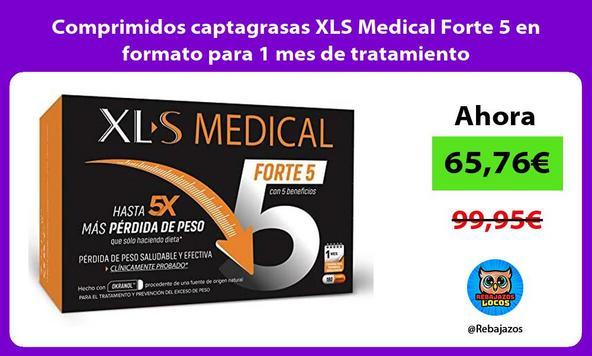 Comprimidos captagrasas XLS Medical Forte 5 en formato para 1 mes de tratamiento