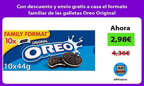 Con descuento y envío gratis a casa el formato familiar de las galletas Oreo Original