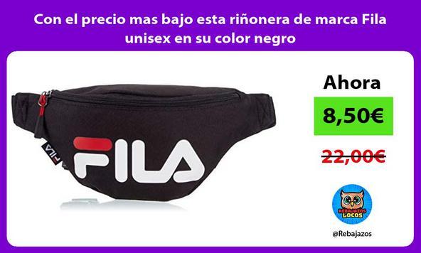 Con el precio mas bajo esta riñonera de marca Fila unisex en su color negro