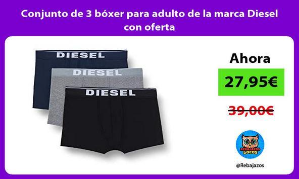 Conjunto de 3 bóxer para adulto de la marca Diesel con oferta