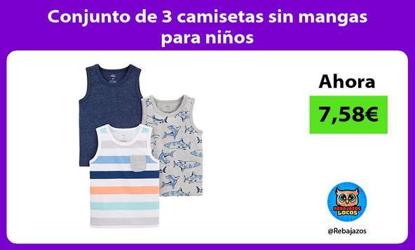 Conjunto de 3 camisetas sin mangas para niños