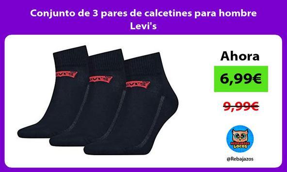 Conjunto de 3 pares de calcetines para hombre Levi's