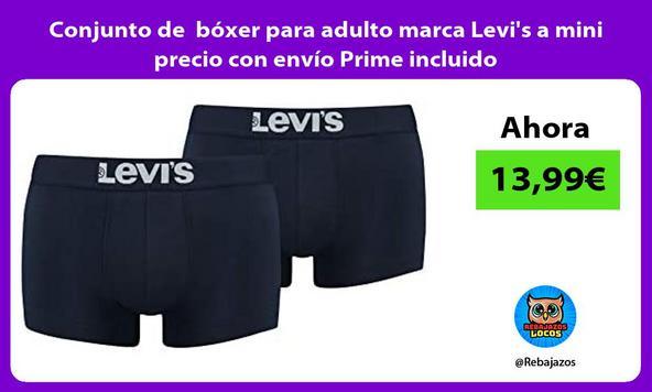 Conjunto de bóxer para adulto marca Levi's a mini precio con envío Prime incluido