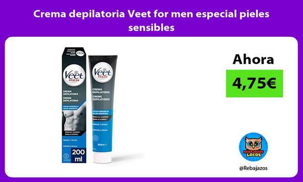 Crema depilatoria Veet for men especial pieles sensibles