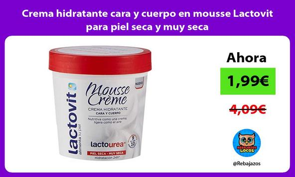 Crema hidratante cara y cuerpo en mousse Lactovit para piel seca y muy seca