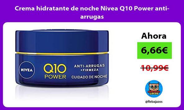 Crema hidratante de noche Nivea Q10 Power anti-arrugas