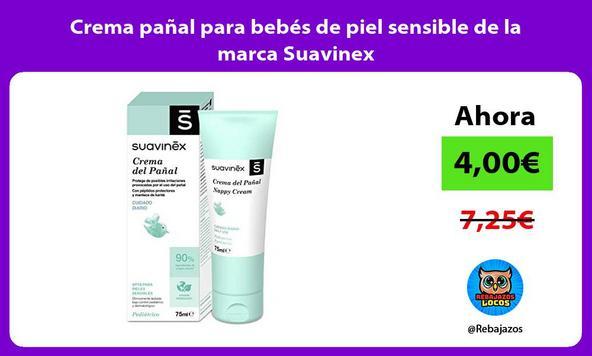 Crema pañal para bebés de piel sensible de la marca Suavinex