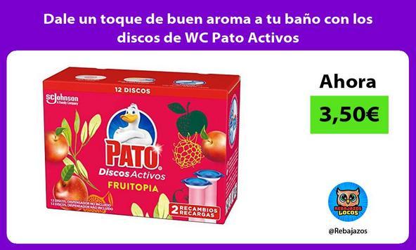 Dale un toque de buen aroma a tu baño con los discos de WC Pato Activos