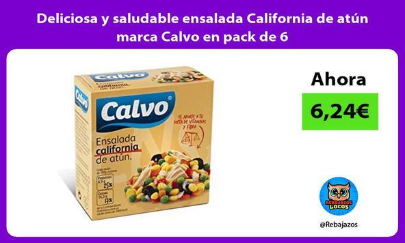Deliciosa y saludable ensalada California de atún marca Calvo en pack de 6