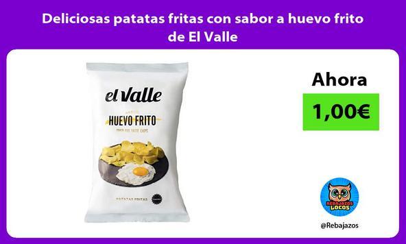 Deliciosas patatas fritas con sabor a huevo frito de El Valle