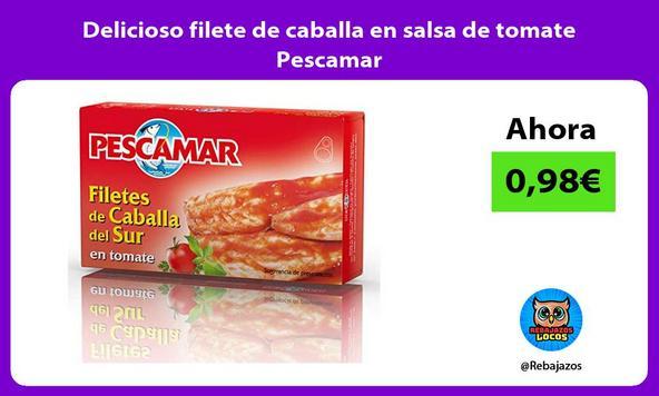 Delicioso filete de caballa en salsa de tomate Pescamar