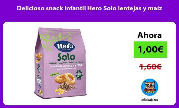 Delicioso snack infantil Hero Solo lentejas y maíz