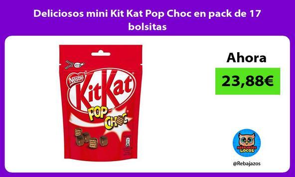 Deliciosos mini Kit Kat Pop Choc en pack de 17 bolsitas