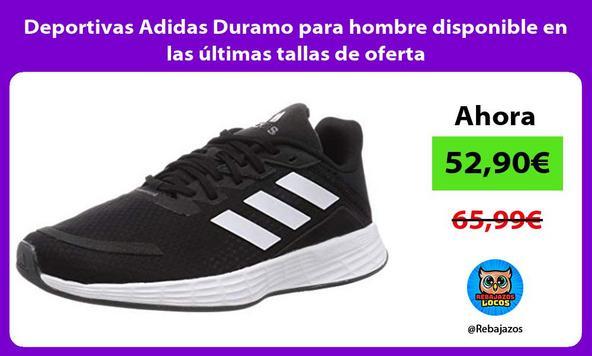 Deportivas Adidas Duramo para hombre disponible en las últimas tallas de oferta