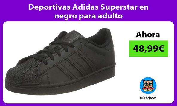 Deportivas Adidas Superstar en negro para adulto