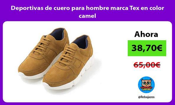 Deportivas de cuero para hombre marca Tex en color camel