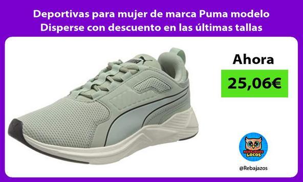 Deportivas para mujer de marca Puma modelo Disperse con descuento en las últimas tallas