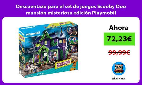 Descuentazo para el set de juegos Scooby Doo mansión misteriosa edición Playmobil