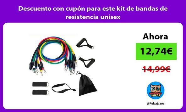 Descuento con cupón para este kit de bandas de resistencia unisex