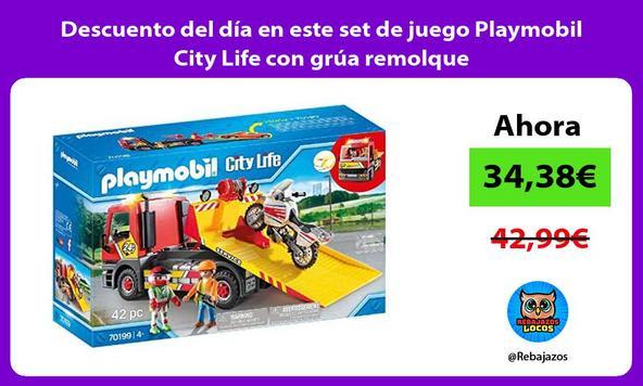 Descuento del día en este set de juego Playmobil City Life con grúa remolque
