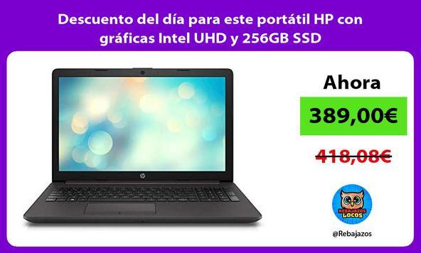 Descuento del día para este portátil HP con gráficas Intel UHD y 256GB SSD
