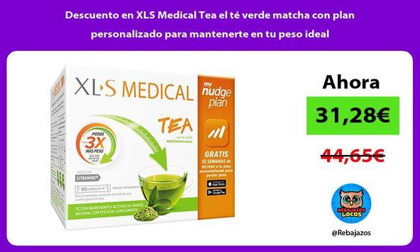 Descuento en XLS Medical Tea el té verde matcha con plan personalizado para mantenerte en tu peso ideal