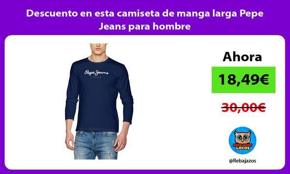 Descuento en esta camiseta de manga larga Pepe Jeans para hombre
