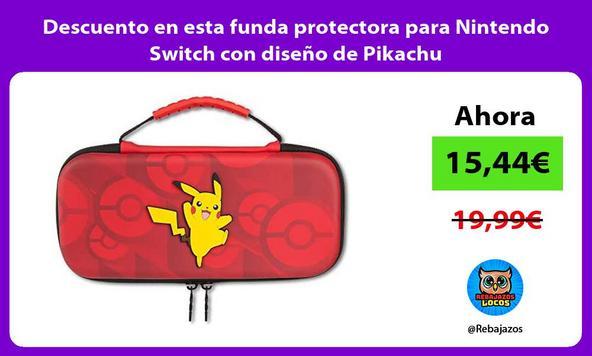 Descuento en esta funda protectora para Nintendo Switch con diseño de Pikachu