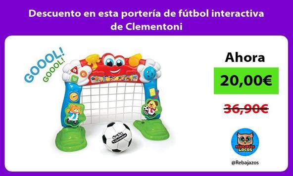 Descuento en esta portería de fútbol interactiva de Clementoni