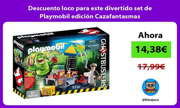 Descuento loco para este divertido set de Playmobil edición Cazafantasmas
