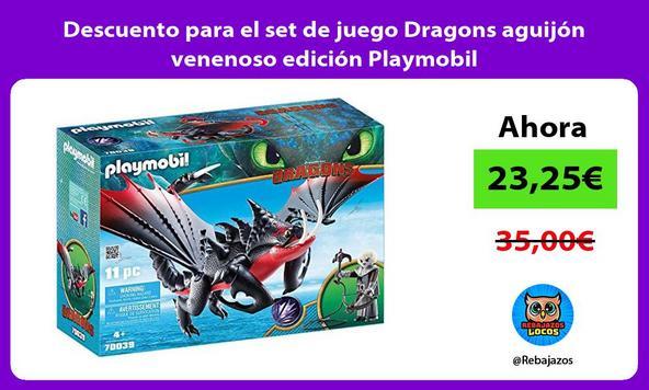 Descuento para el set de juego Dragons aguijón venenoso edición Playmobil
