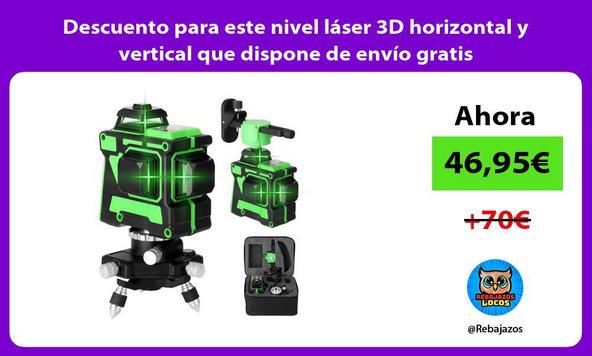 Descuento para este nivel láser 3D horizontal y vertical que dispone de envío gratis