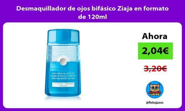 Desmaquillador de ojos bifásico Ziaja en formato de 120ml
