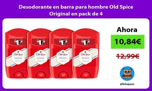 Desodorante en barra para hombre Old Spice Original en pack de 4