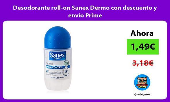 Desodorante roll-on Sanex Dermo con descuento y envío Prime
