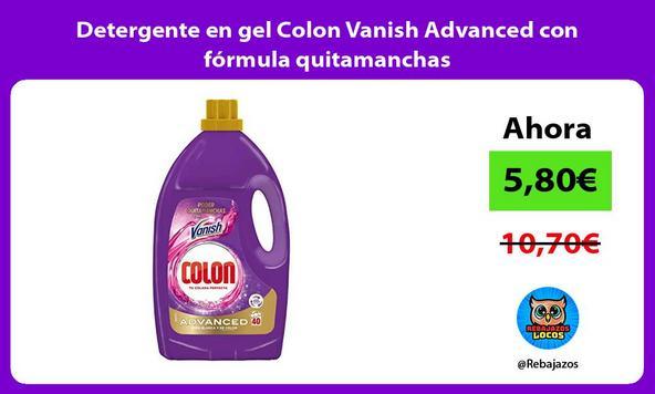 Detergente en gel Colon Vanish Advanced con fórmula quitamanchas