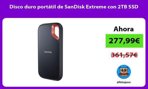 Disco duro portátil de SanDisk Extreme con 2TB SSD