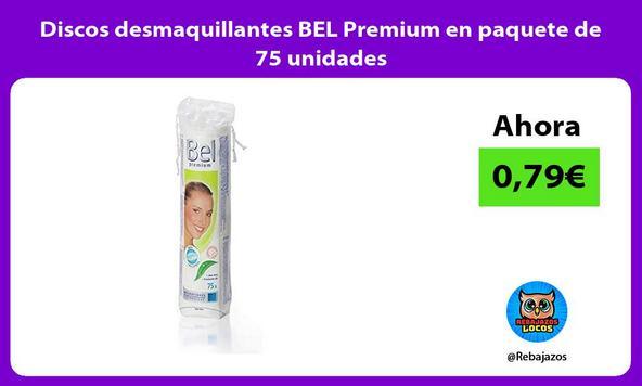Discos desmaquillantes BEL Premium en paquete de 75 unidades